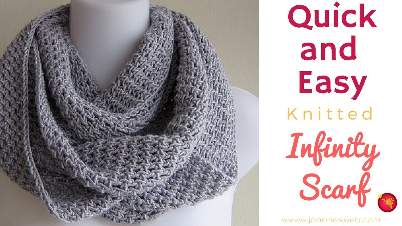 Scarf Patterns Knitting Beginner Project Infinity Scarf
