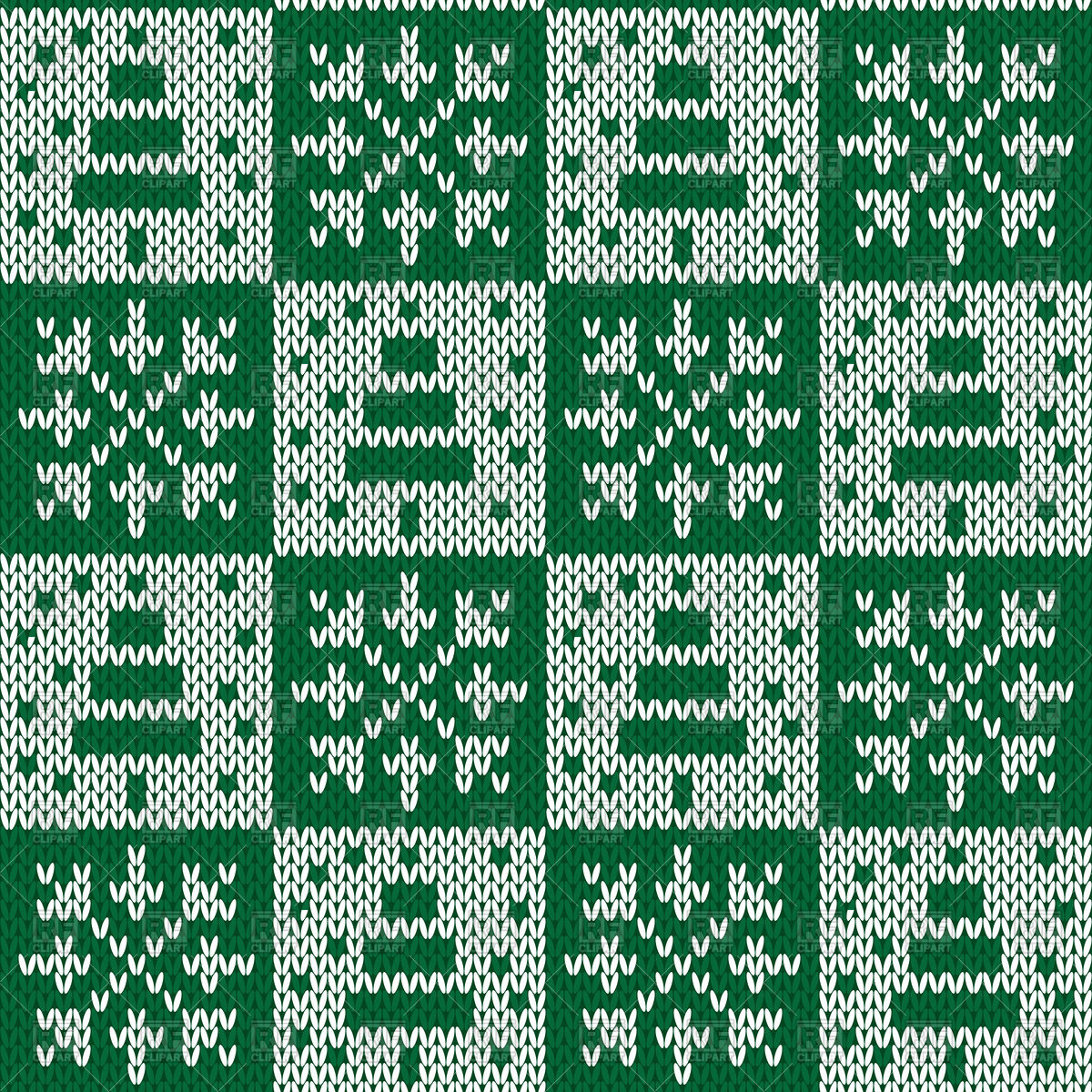 Seamless Knitting Patterns Seamless Knitted Pattern Made Of Snowflakes And Pine Trees Stock Vector Image