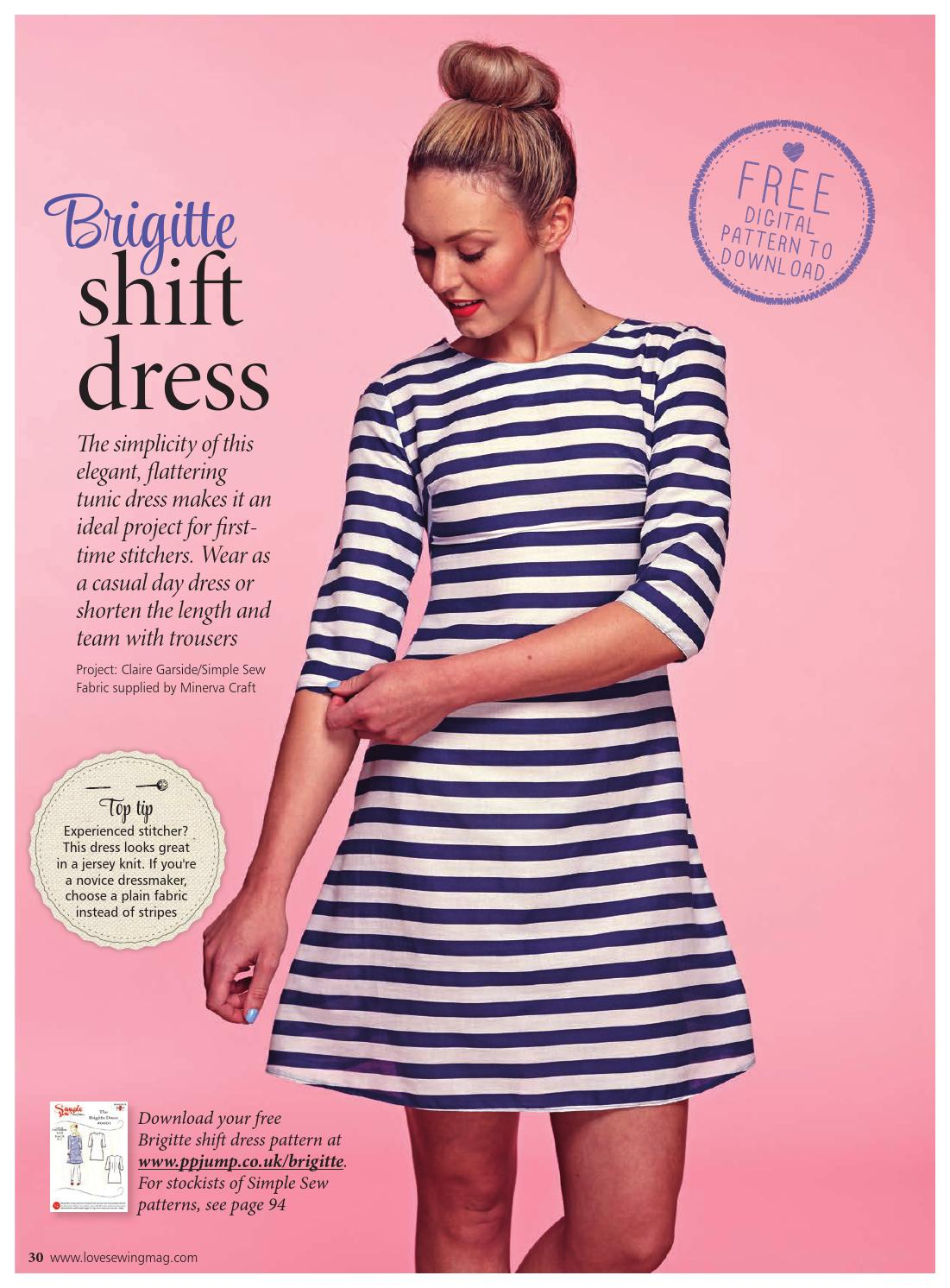 Simple Knit Dress Pattern Love Sewing 1 New Sampler Practical Publishing Issuu