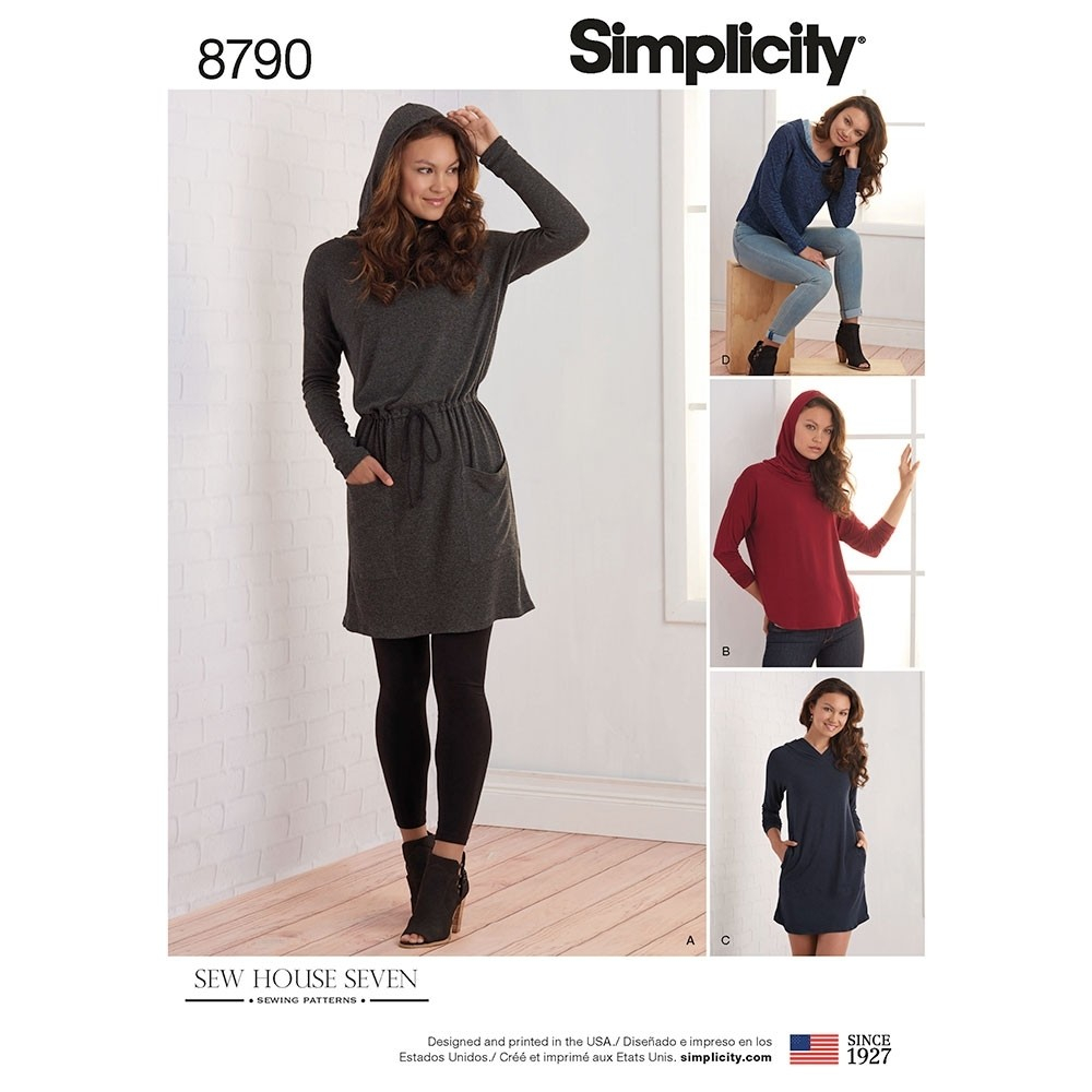Simple Knit Dress Pattern Misses Knit Dresses And Tunics Simplicity Sewing Pattern 8790 Size Xs Xl