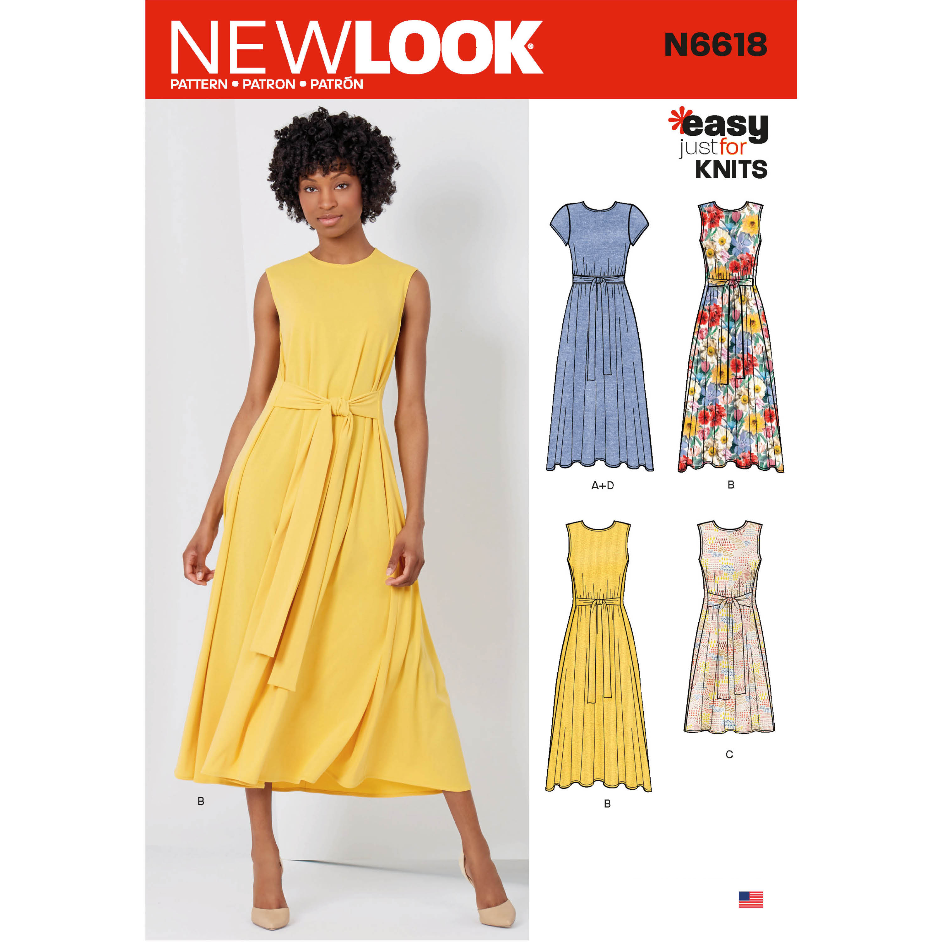 Simple Knit Dress Pattern New Look Sewing Pattern N6618 Misses Dresses In Two Lengths