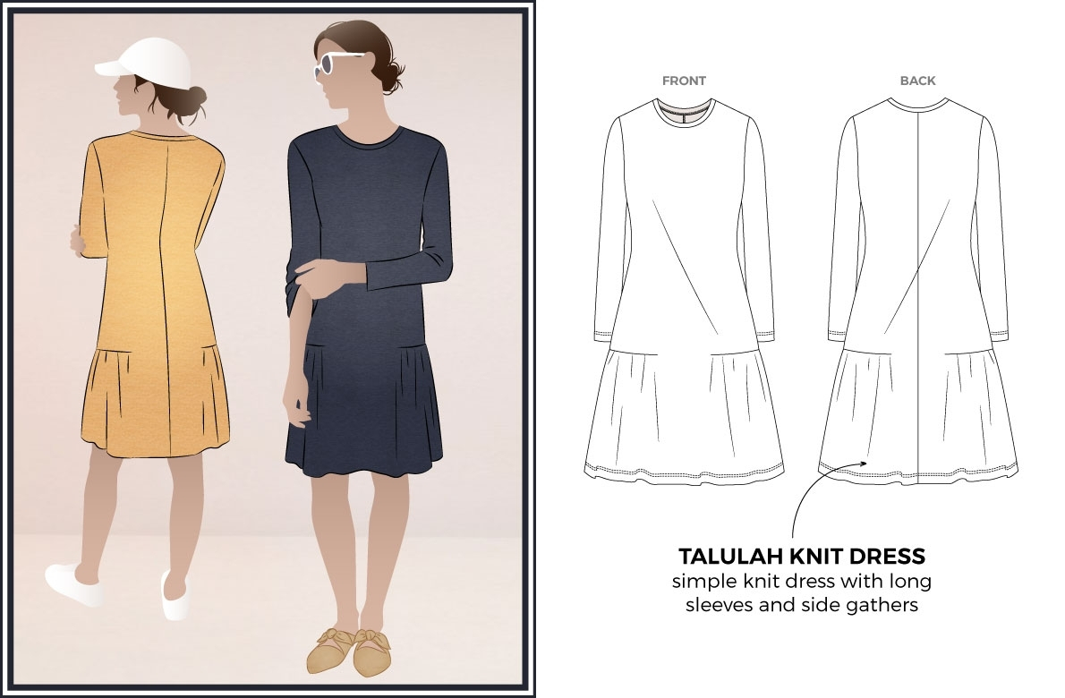 Simple Knit Dress Pattern Talulah Knit Dress Sewing Pattern Dress Sewing Patterns Style Arc