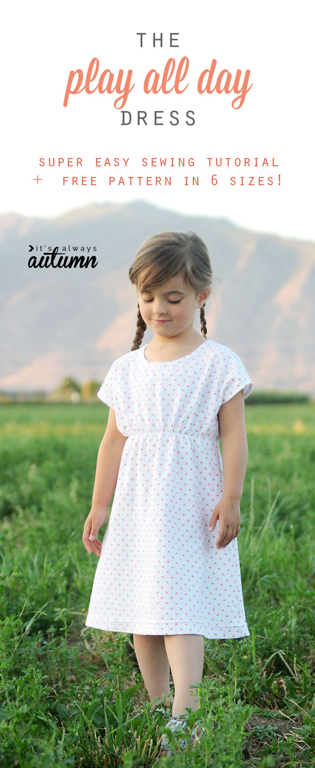 Simple Knit Dress Pattern The Play All Day Dress Free Girls Dress Pattern In 6 Sizes Its