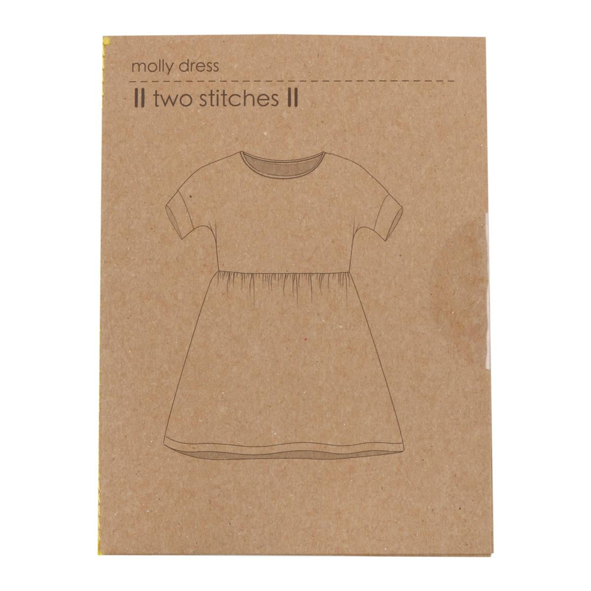 Simple Knit Dress Pattern Two Stitches Molly Dress Sizes 6m To 9y