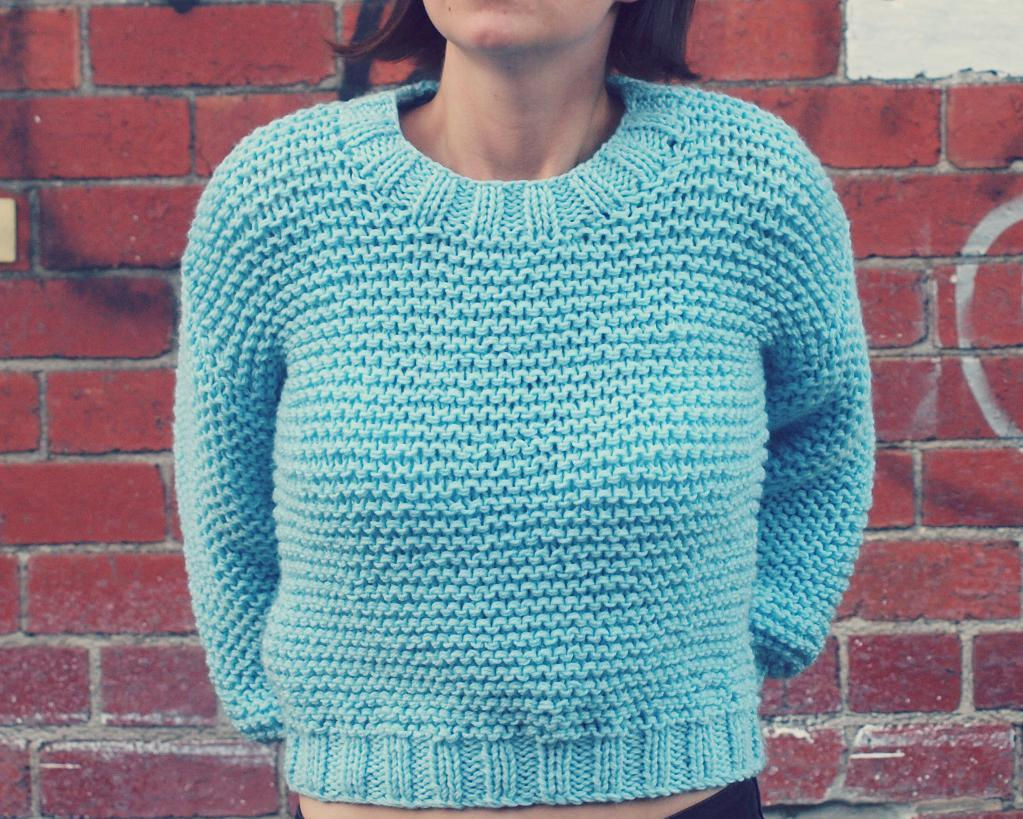 Simple Knit Sweater Pattern Free Patterns To Make Knitting Garter Stitch Not Boring