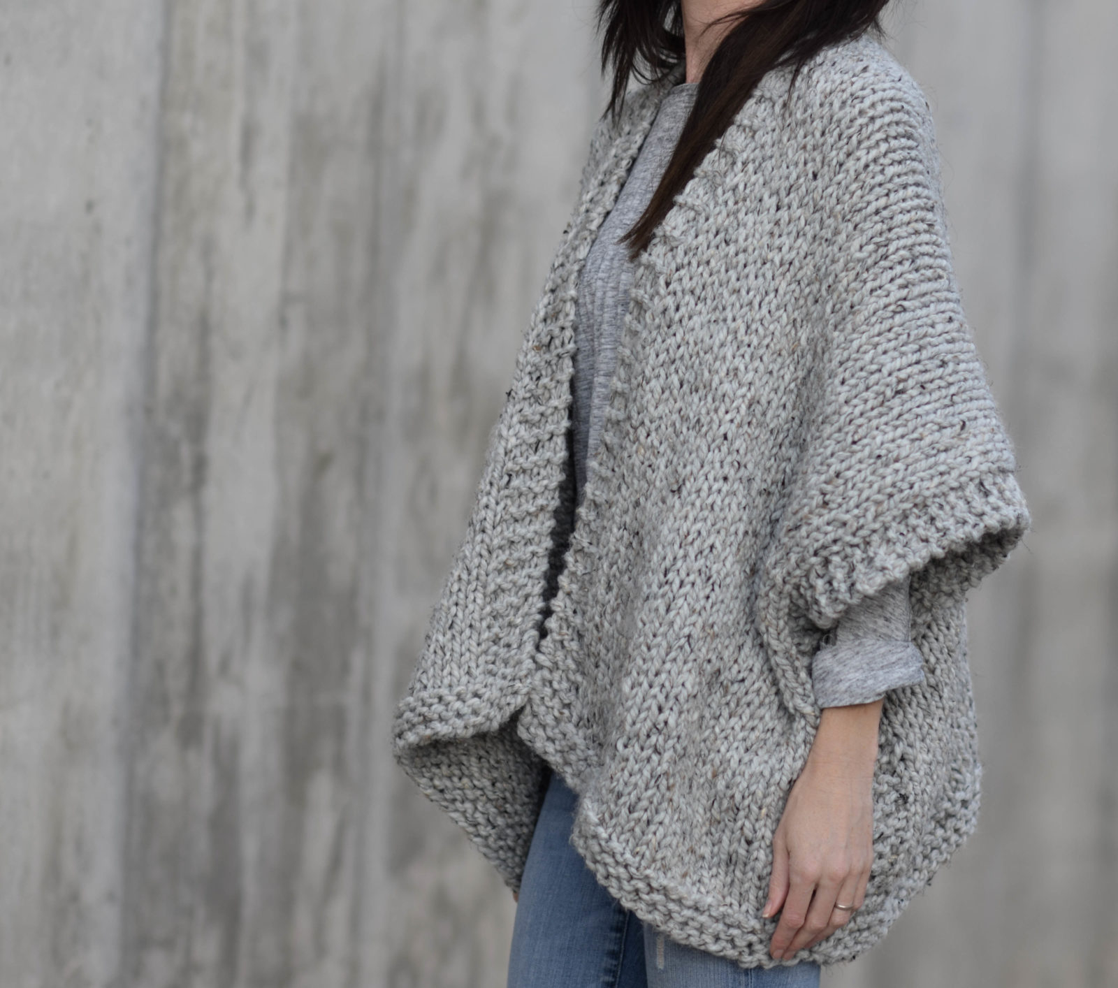 Simple Knit Sweater Pattern Free Telluride Easy Knit Kimono Pattern Mama In A Stitch