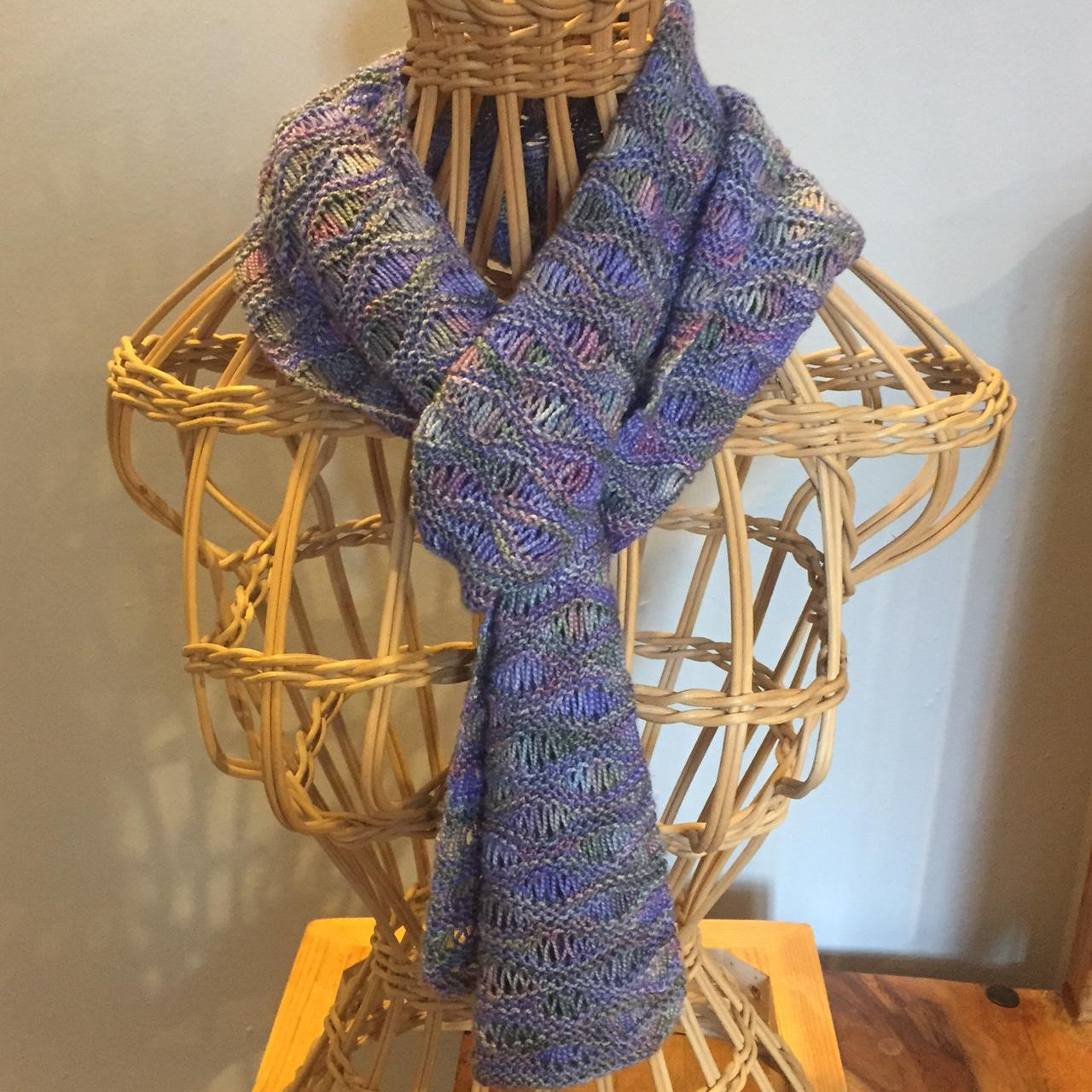 Simple Scarf Knitting Patterns For Beginners Knitting Pattern Ebb And Flow Scarf