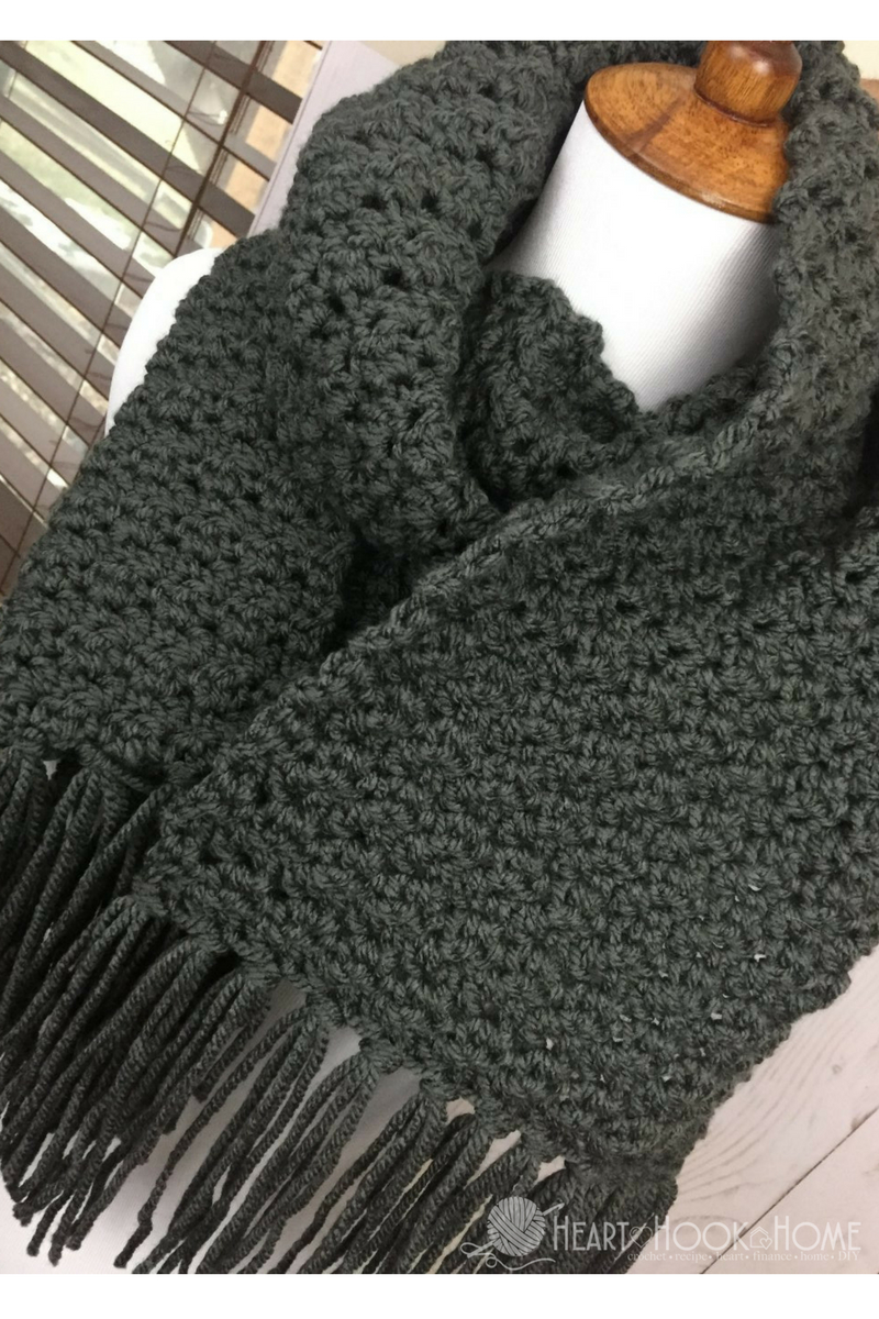 Simple Scarf Knitting Patterns For Beginners Simple Scarf For Men Free Crochet Pattern