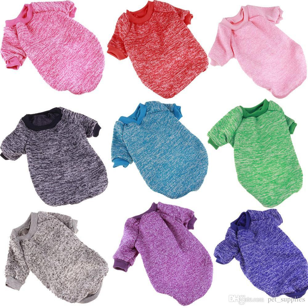 Small Dog Coat Knitting Pattern Free Factory Price Warm Dog Clothes Puppy Pet Cat Jacket Coat Winter Fashion Soft Sweater Clothing For Small Dogs Chihuahua Xs 2xl Free Dhl