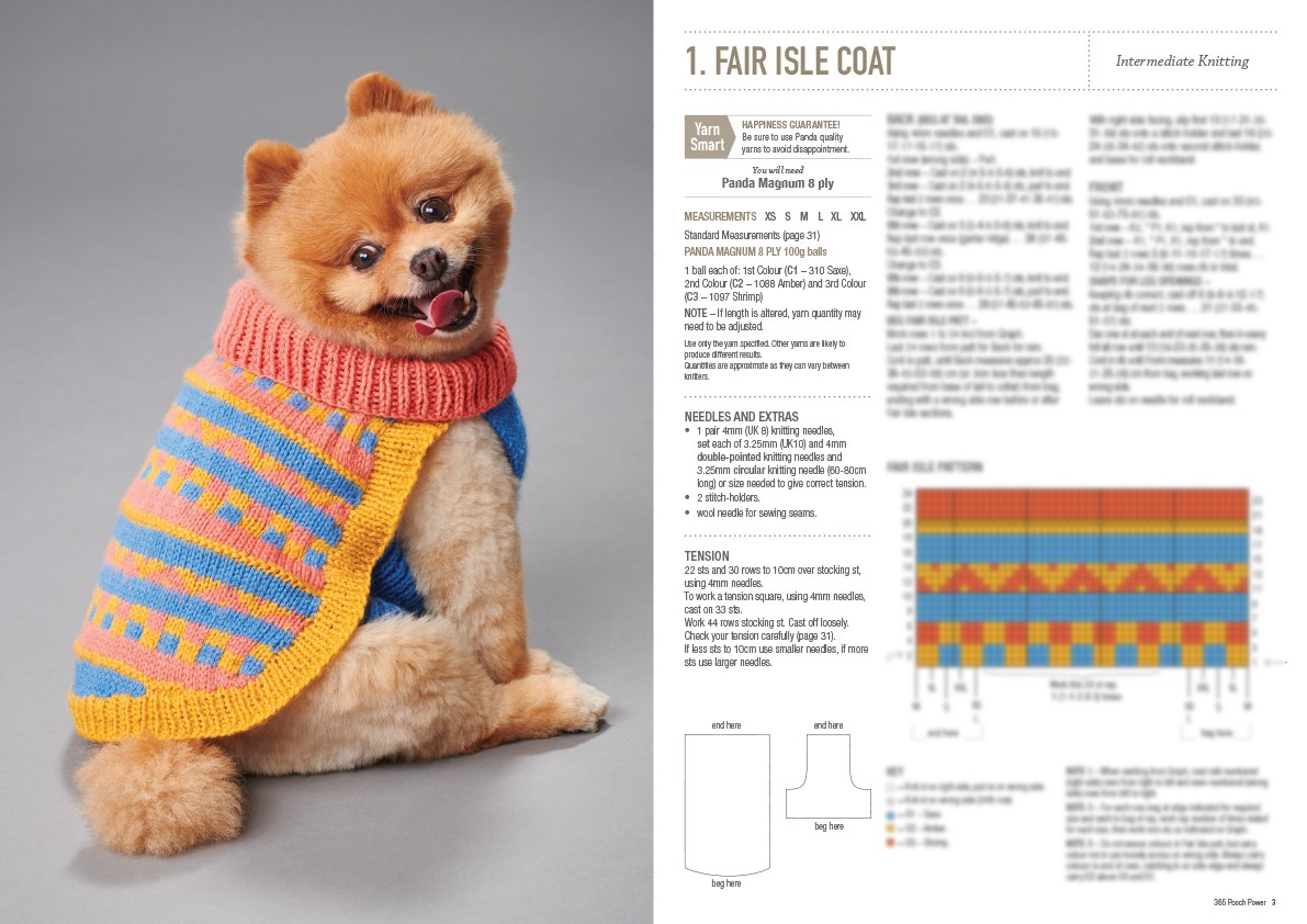 Small Dog Coat Knitting Pattern Free Pooch Power Dog Coats And Jumpers Pattern Book 0003