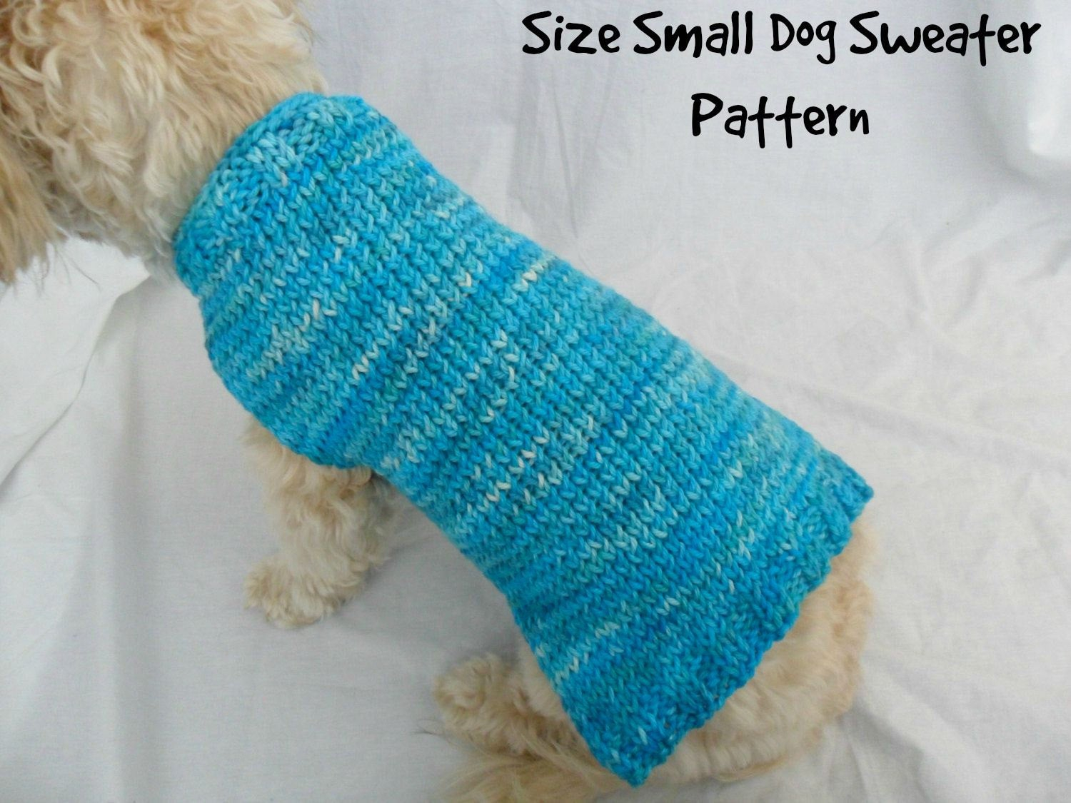 Small Dog Knitting Patterns Simple Dog Sweater Knitting Pattern Pdf Small Dog Sweater