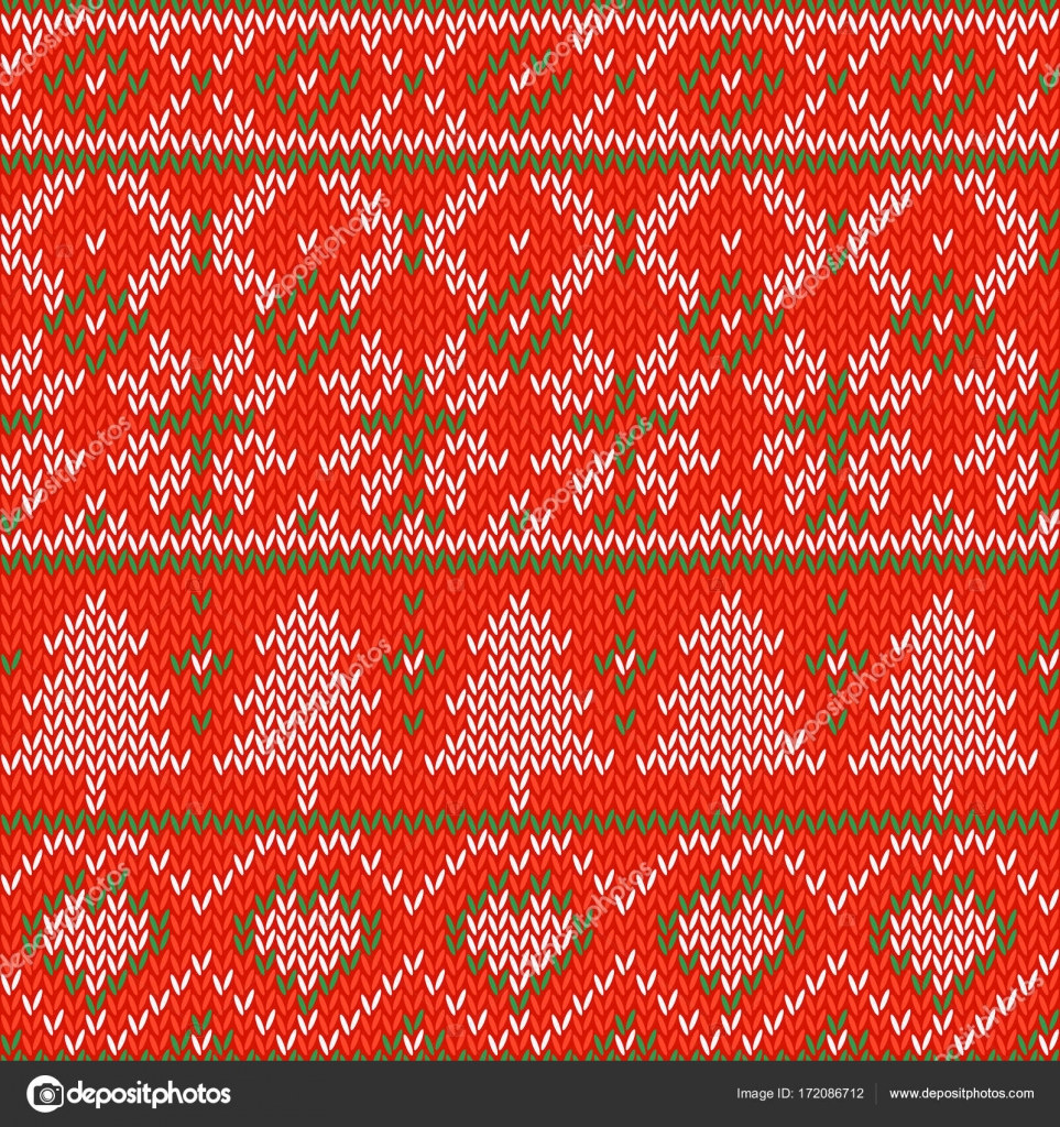 Snowflake Pattern Knitting Knitted Christmas Background Seamless Pattern Nordic Background