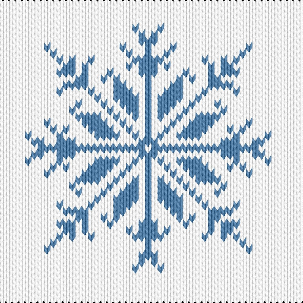 Snowflake Pattern Knitting Knitting Motif And Knitting Chart Snowflake Designed Mara