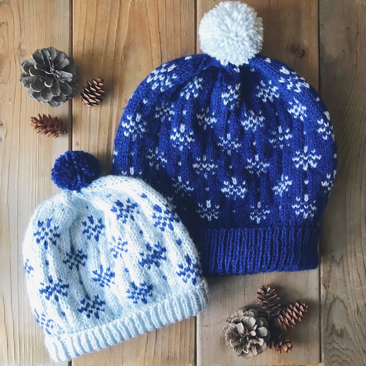 Snowflake Pattern Knitting Pdf Snowflake Beanie Knitting Pattern All Sizes Newborn Through