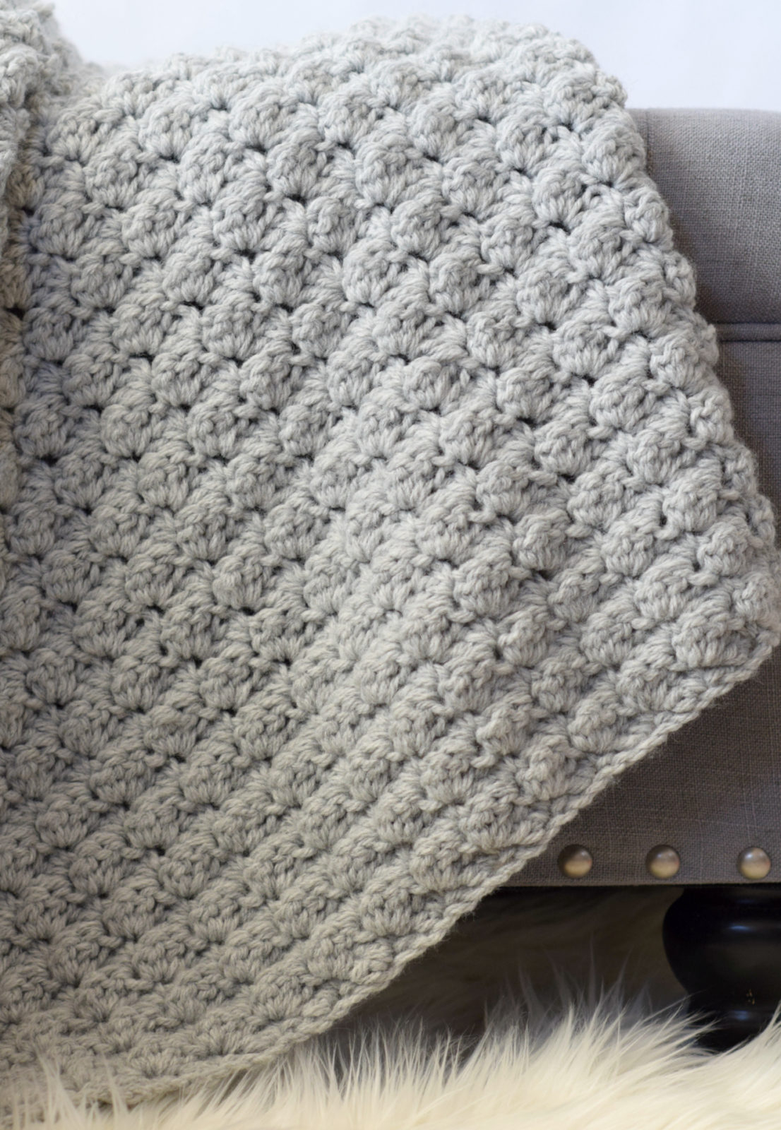 Super Easy Knit Baby Blanket Pattern Simple Crocheted Blanket Go To Pattern Mama In A Stitch