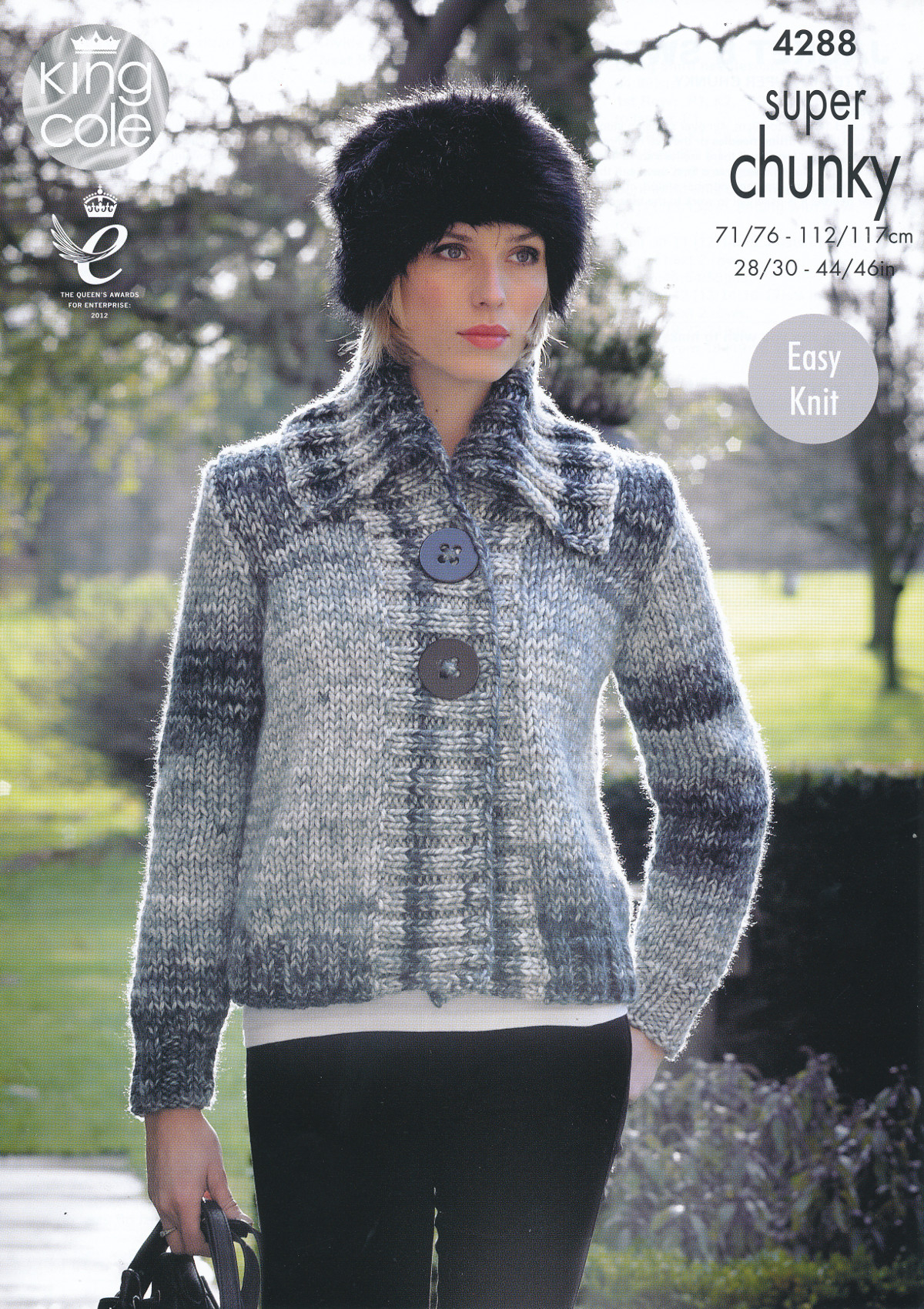 Sweater Jacket Knitting Pattern Details About Ladies Super Chunky Knitting Pattern King Cole Ribbed Jacket Sweater Jumper 4288