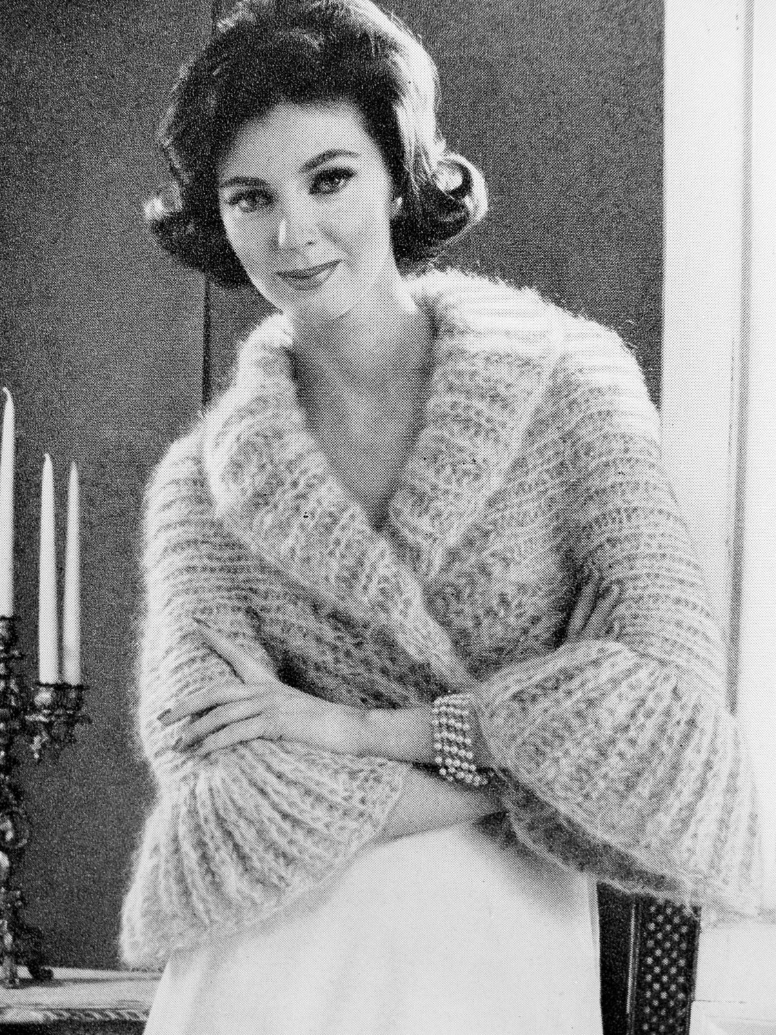 Sweater Jacket Knitting Pattern Instant Pdf Pattern 1960s Vintage Knitting Pattern Shrug Sweater Jacket Lovely Shawl Collar Bell Sleeves Day Or Evening Unique Knit Pattern