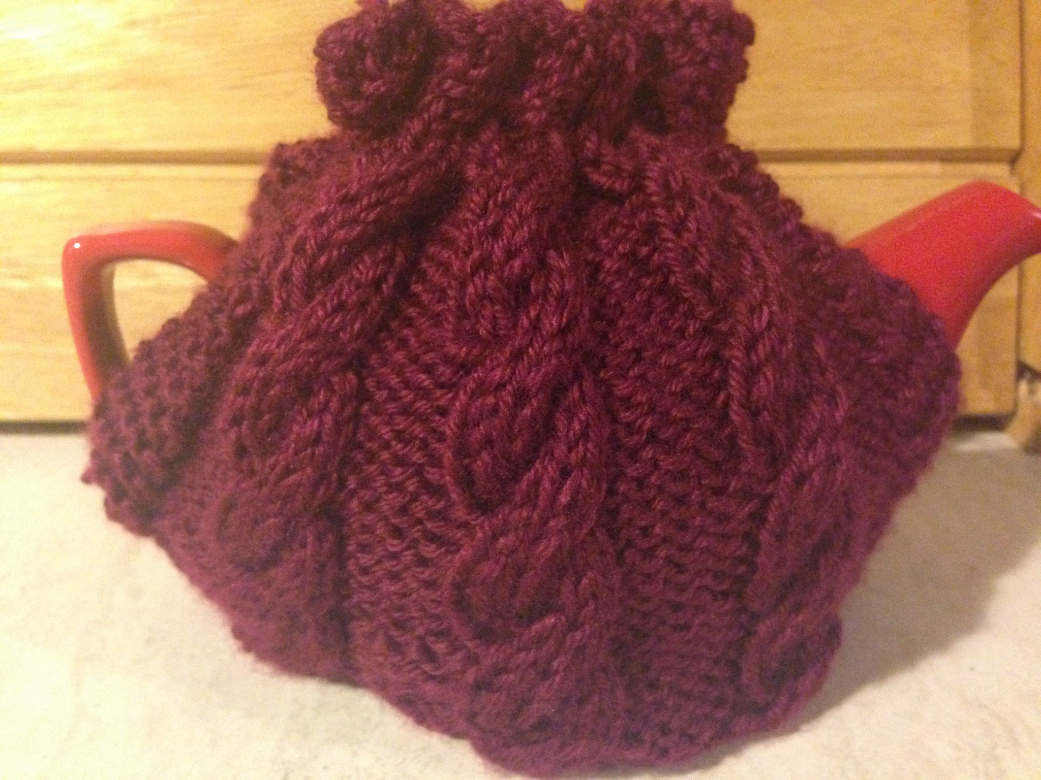 Tea Cosy Knitting Patterns Easy Cabled Tea Cosy How To Make A Tea Cozy Yarncraft On Cut Out Keep