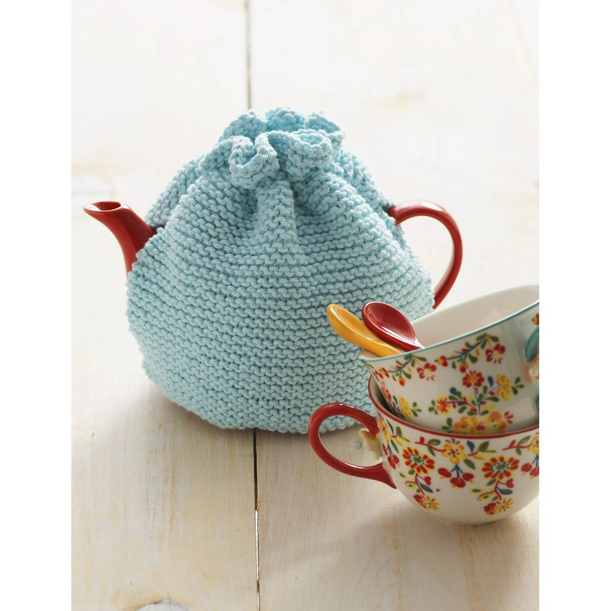 Tea Cosy Knitting Patterns Easy Free Pattern Lily Sugar N Cream Knit Tea Cosy Hobcraft