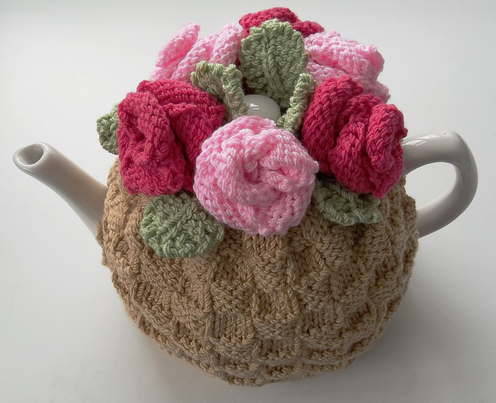 Tea Cosy Knitting Patterns Easy The Tea Rose Tea Cosy Hand Knitting Pattern