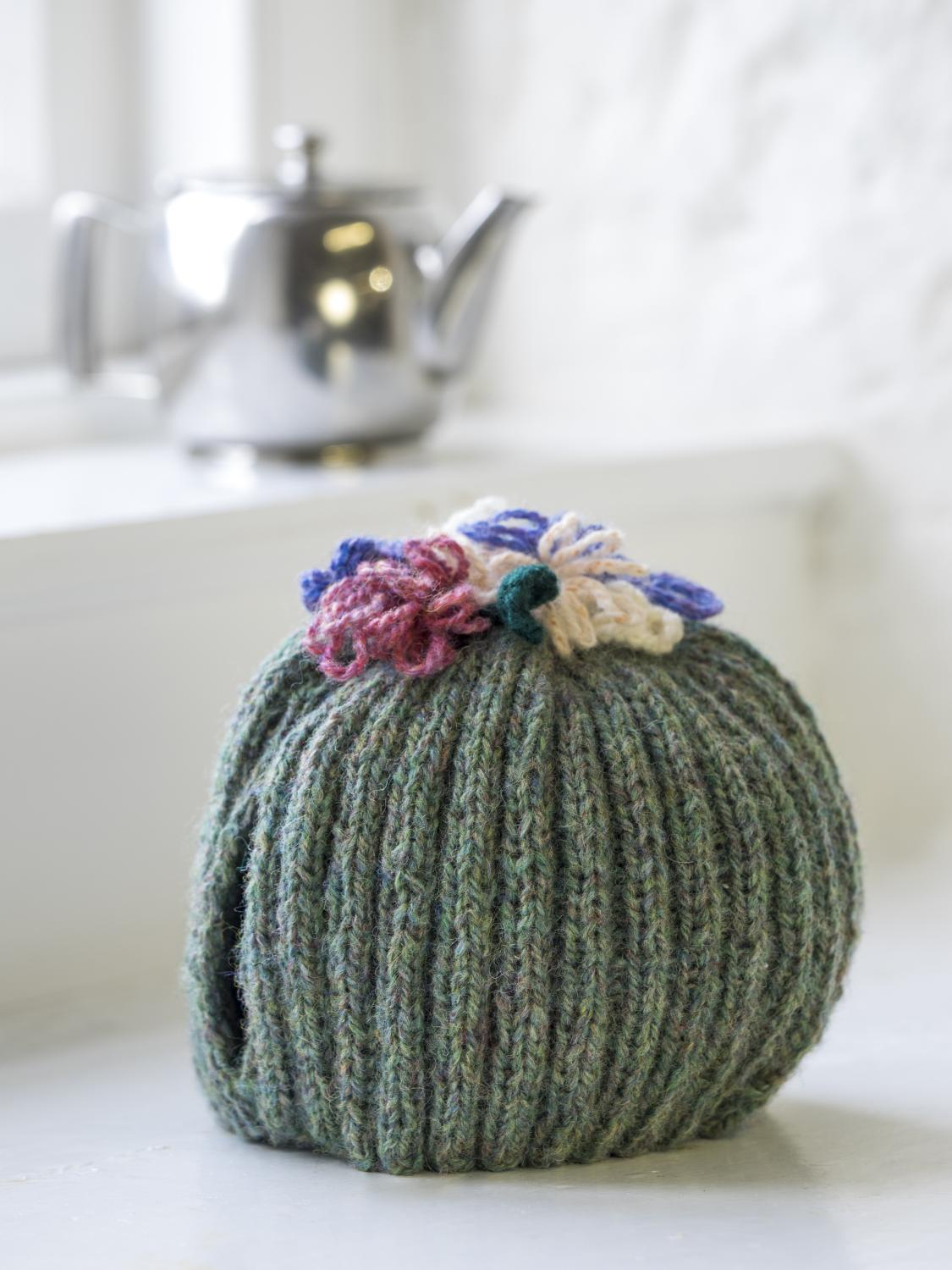 Tea Cosy Patterns To Knit Flowered Tea Cosy Dk Kit