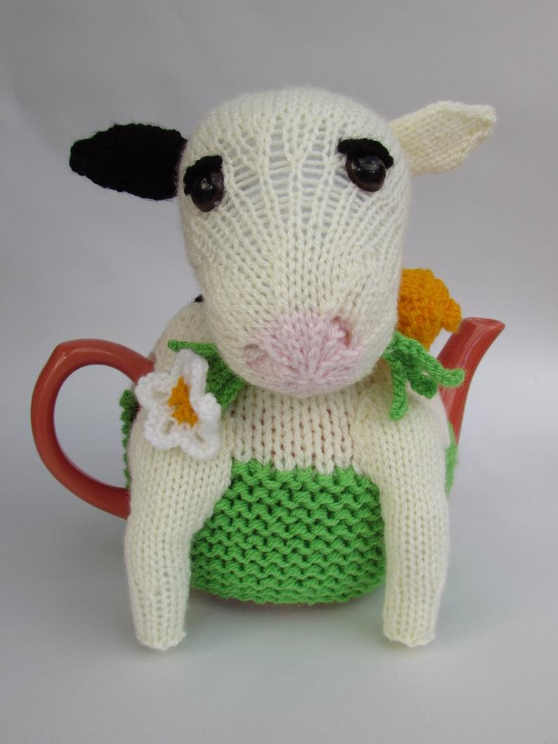 Tea Cosy Patterns To Knit Friesian Cow Tea Cosy Knitting Pattern