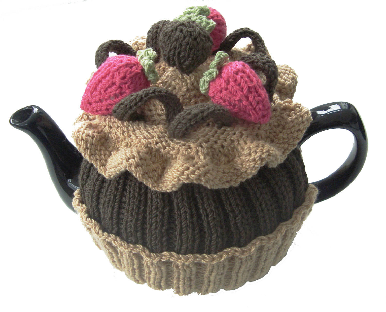 Tea Cosy Patterns To Knit Tea Cosy Knitting Pattern Chocolate Cup Cake Pdf Knitting Pattern