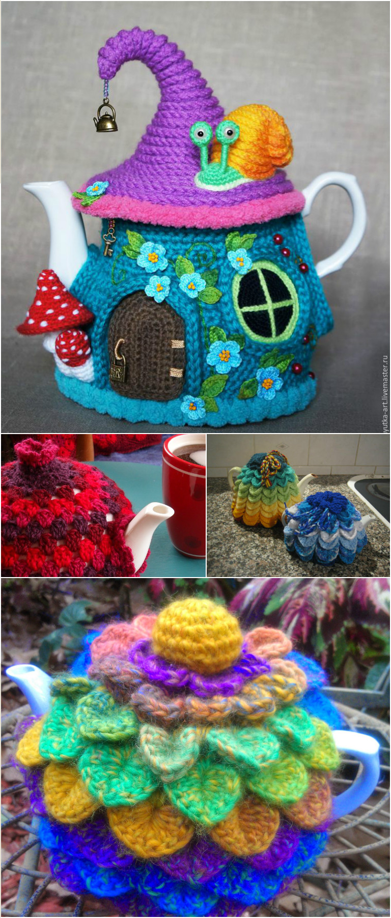 Tea Cosy Patterns To Knit These Fairy House Tea Cosy Patterns Are Absolutely Button Cute Pondic