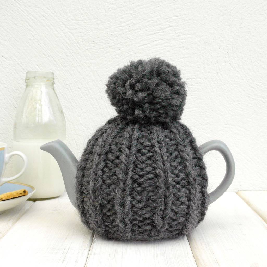 Tea Cosy Patterns To Knit Two Cup Hand Knit Tea Cosy
