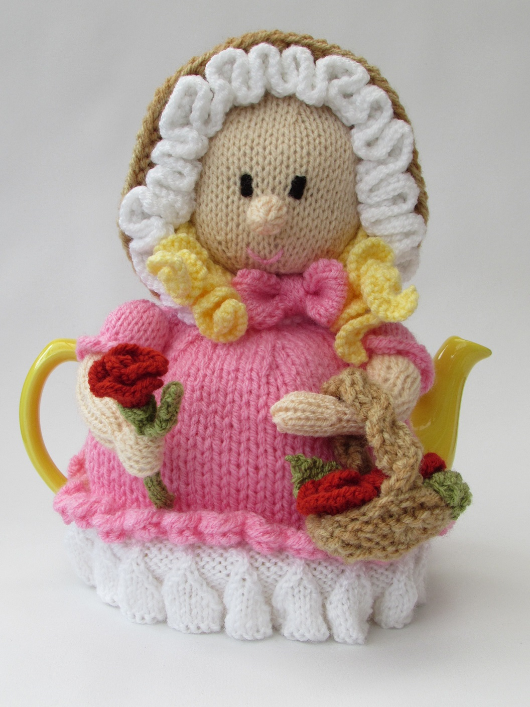 Tea Cosy Patterns To Knit Victorian Flower Girl Tea Cosy Knitting Pattern