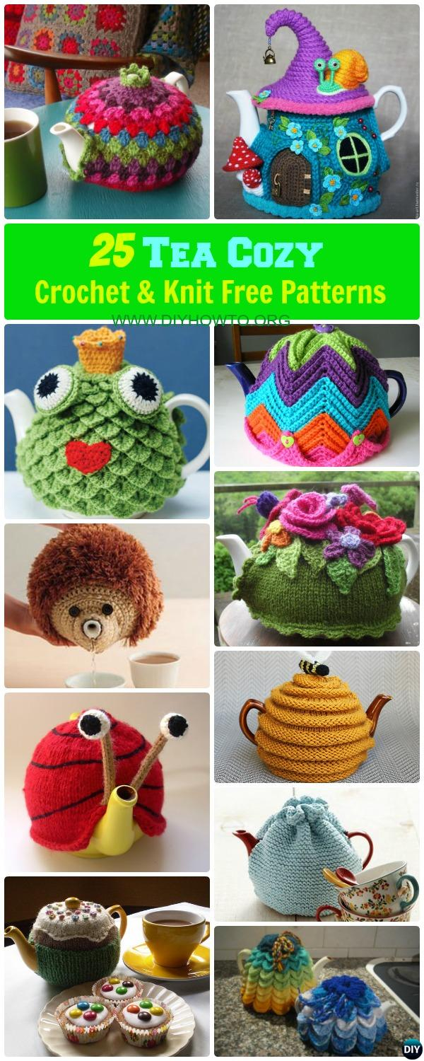 Tea Cozy Patterns To Knit 25 Crochet Knit Tea Cozy Free Patterns Picture Instructions Pin