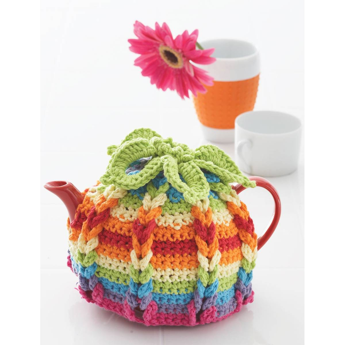 Tea Cozy Patterns To Knit Free Pattern Lily Sugar N Cream Hot Hibiscus Tea Cosy Hobcraft