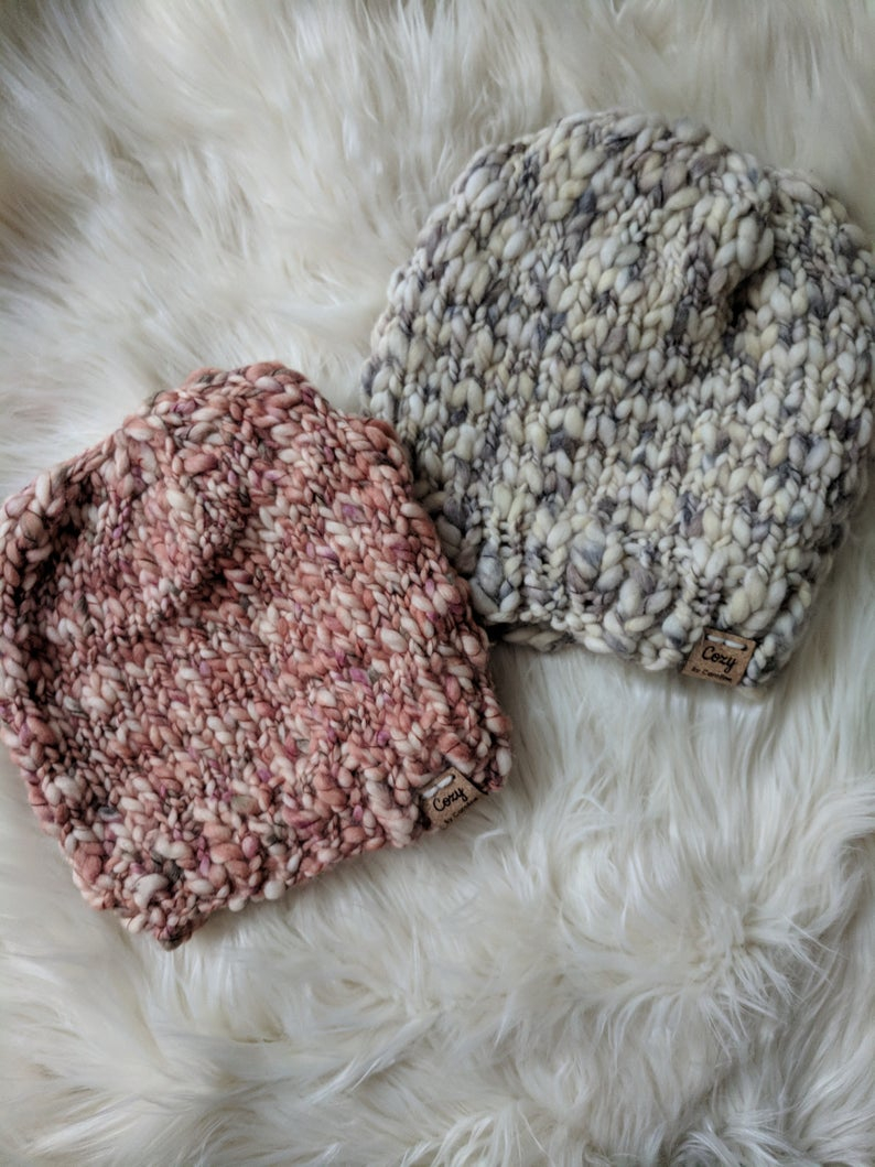 Thick And Thin Yarn Knitting Patterns Knitting Pattern Thick And Thin Buttercream Yarn Textured Yarn Pattern Textured Hat Pattern Easy Knitting Pattern Beginner Hat Pattern