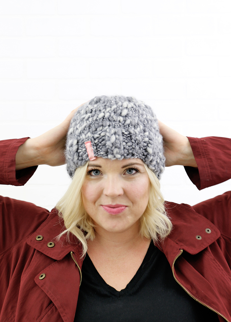 Thick And Thin Yarn Knitting Patterns Simple Thick And Thin Knit Hat Free Pattern Persia Lou