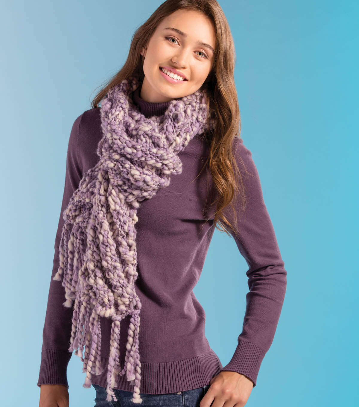 Thick And Thin Yarn Knitting Patterns Thick Thin Scarf Joann