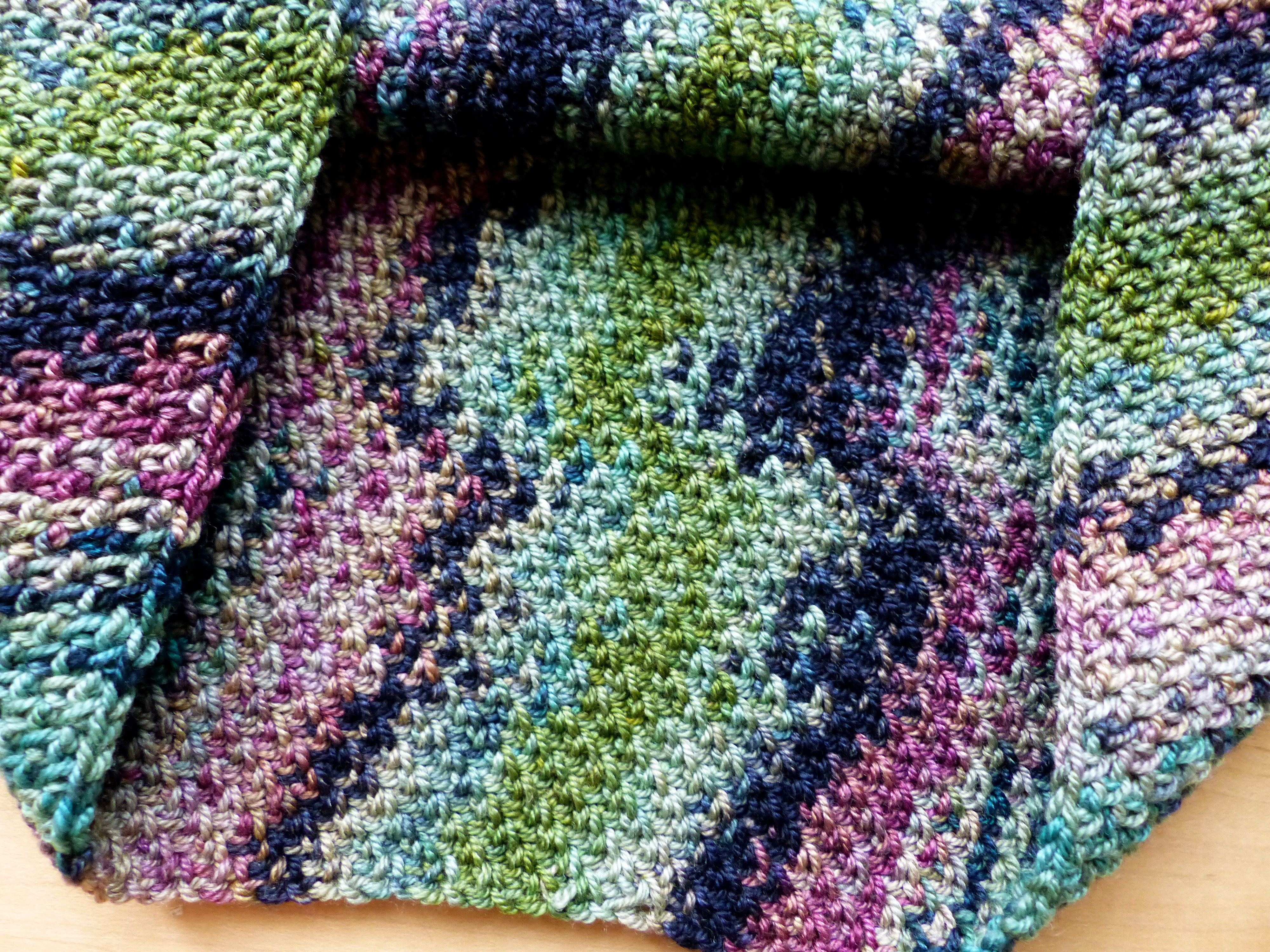 Variegated Yarn Patterns Knitting Colour Pool Cowl Make My Day Creative