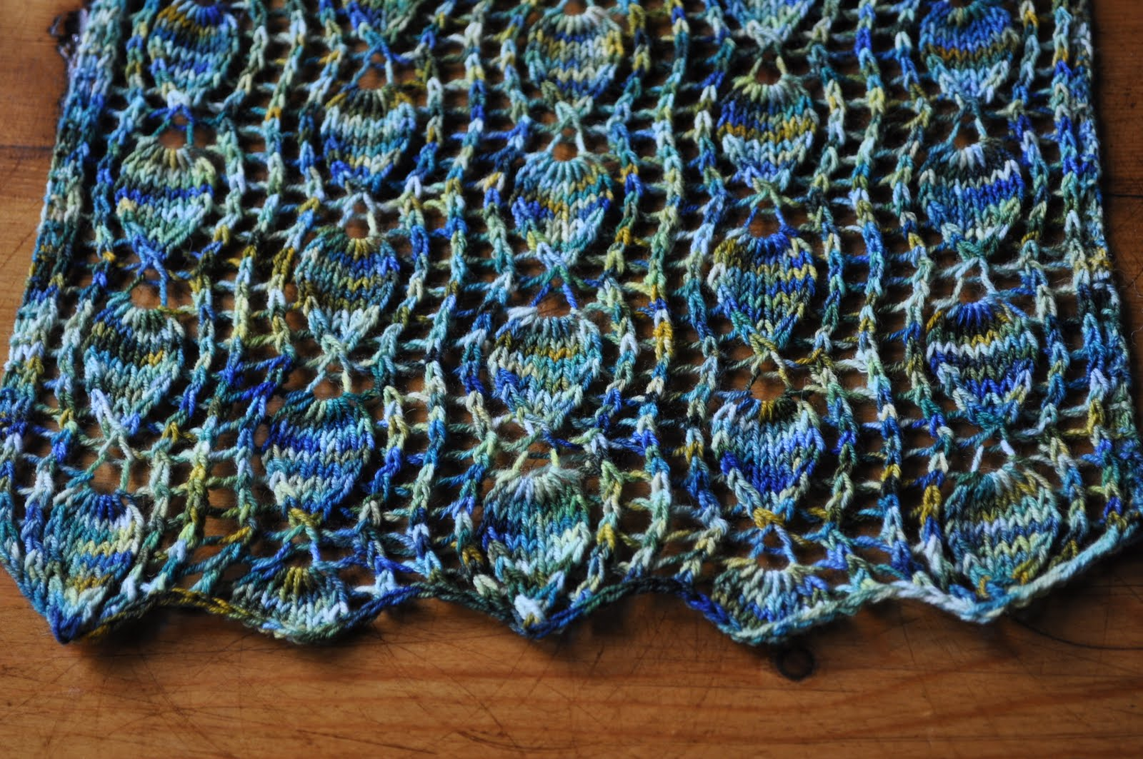 Variegated Yarn Patterns Knitting Knitting Linguist The Year Of The Magpie Lace And Ramping Up