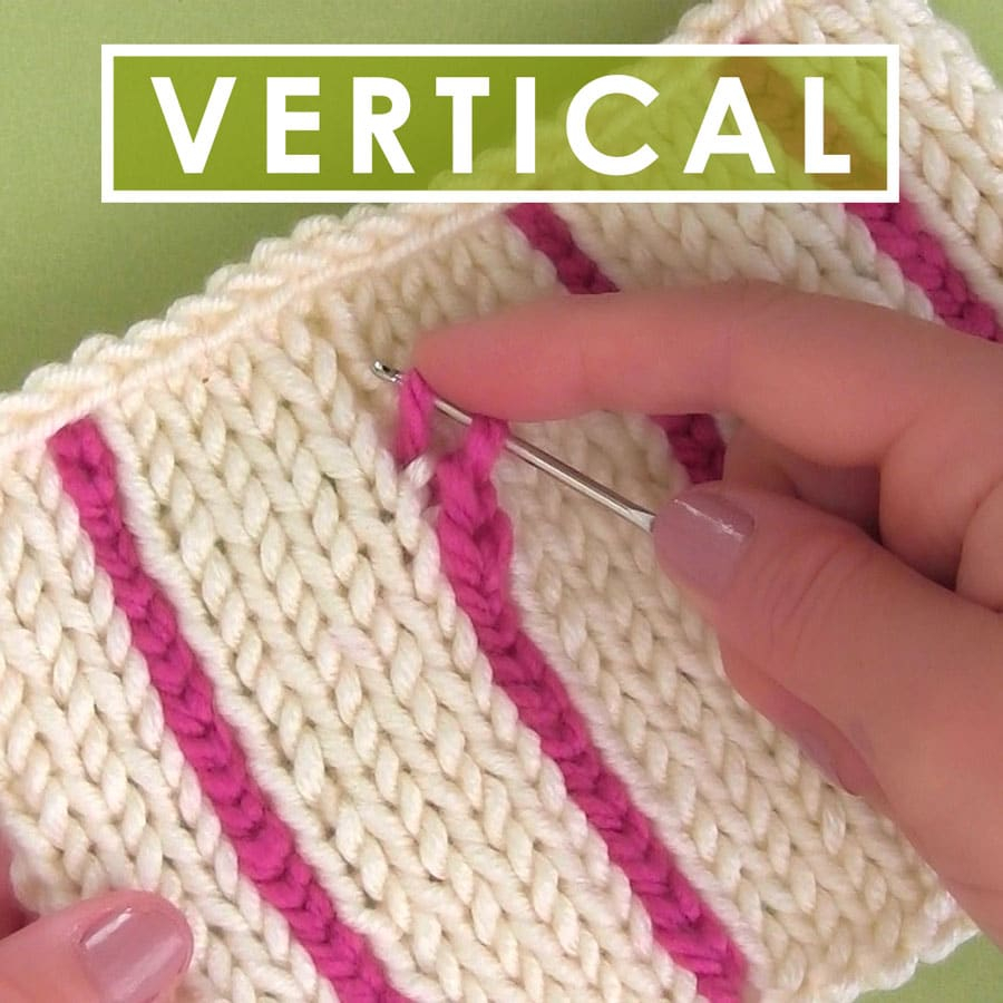 Vertical Striped Scarf Knitting Pattern Easily Knit Vertical Stripes Using A Crochet Chain With Video