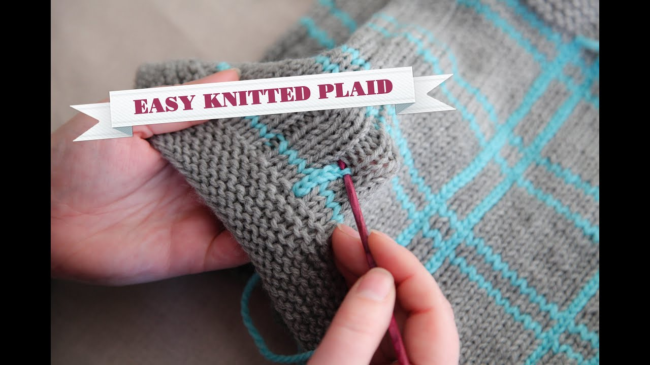 Vertical Striped Scarf Knitting Pattern How To Knit Plaid