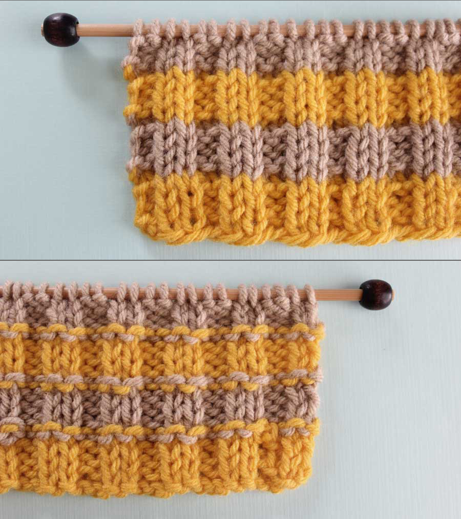 Vertical Striped Scarf Knitting Pattern How To Remove Purl Dash Lines Knitting Technique Studio Knit
