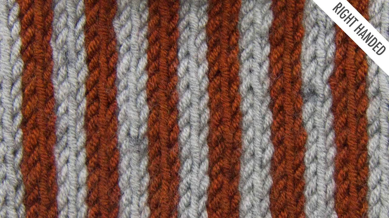 Vertical Striped Scarf Knitting Pattern The Simple Vertical Stripes Stitch Knitting Stitch 528 Right Handed