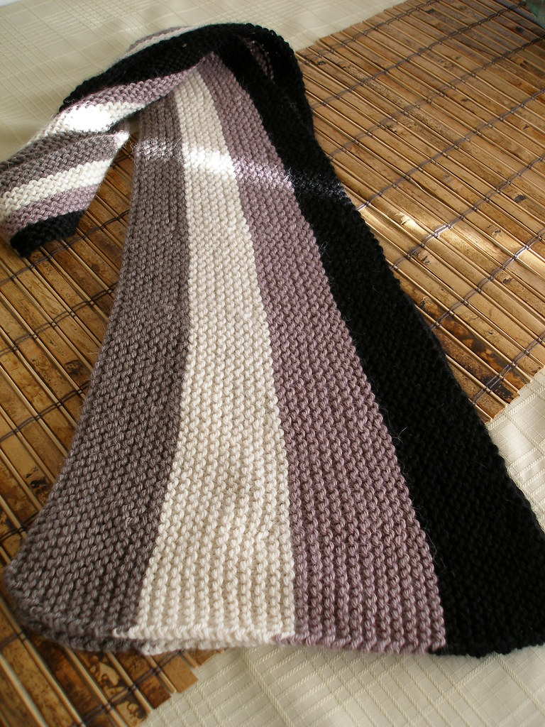 Vertical Striped Scarf Knitting Pattern Wedge Vertical Stripe Scarf This Was An Interesting Scarf Flickr