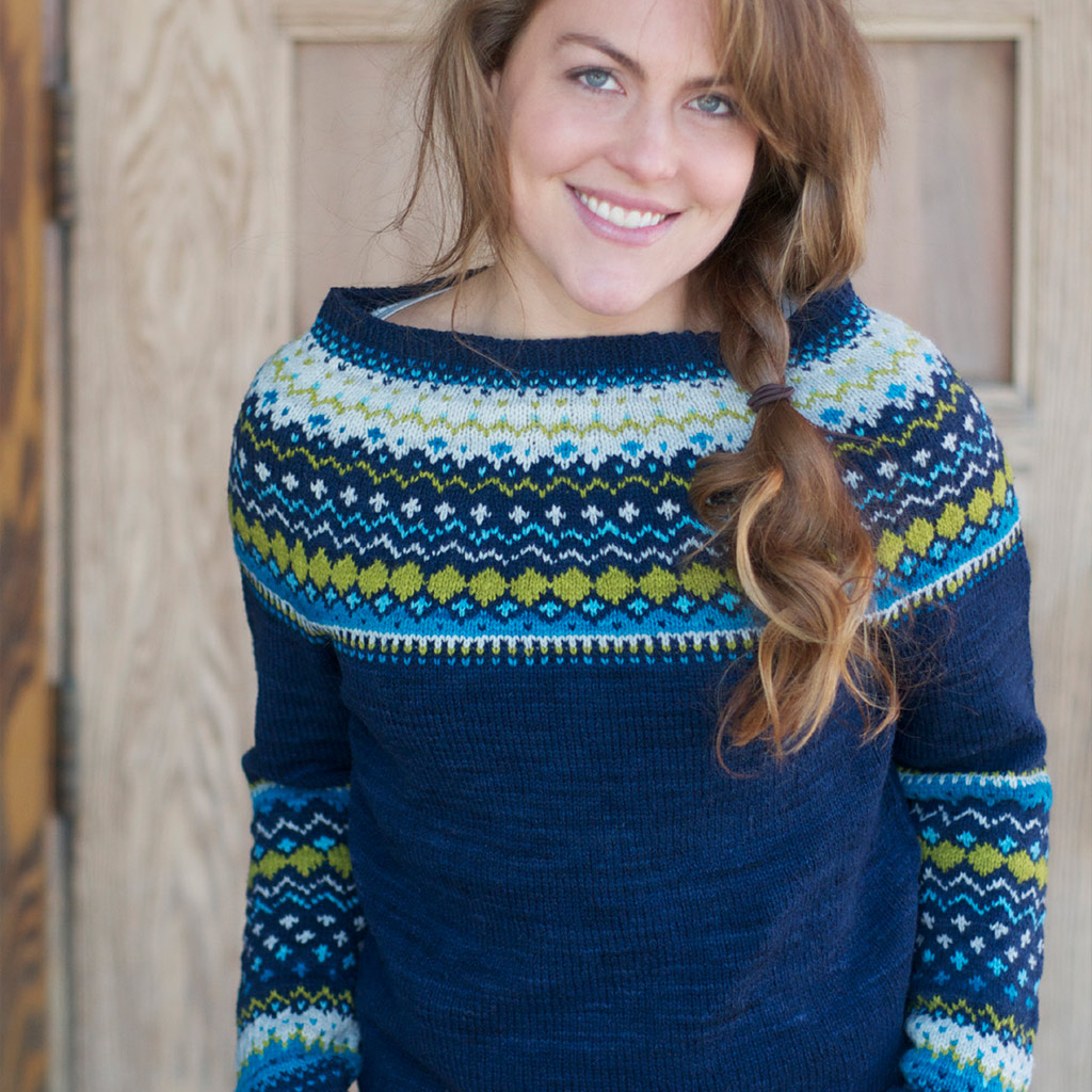 Yoke Knitting Pattern Bridget Pullover