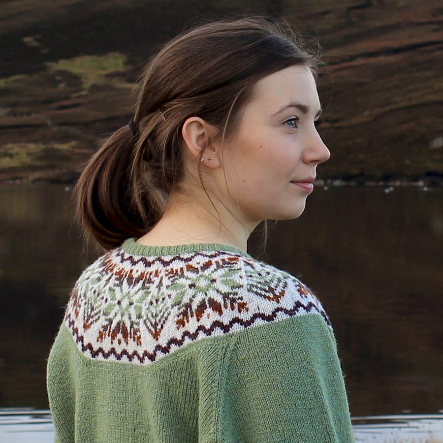 Yoke Knitting Pattern Hairst Cardigan Sandra Manson