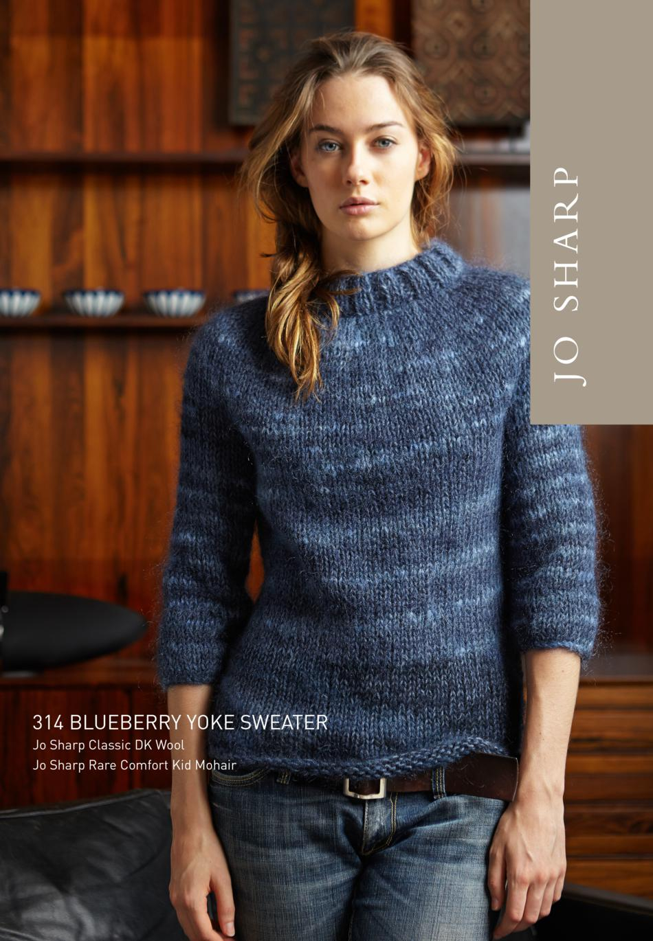 Yoke Knitting Pattern Jo Sharp Blueberry Yoke Sweater Pattern Knitting Pattern