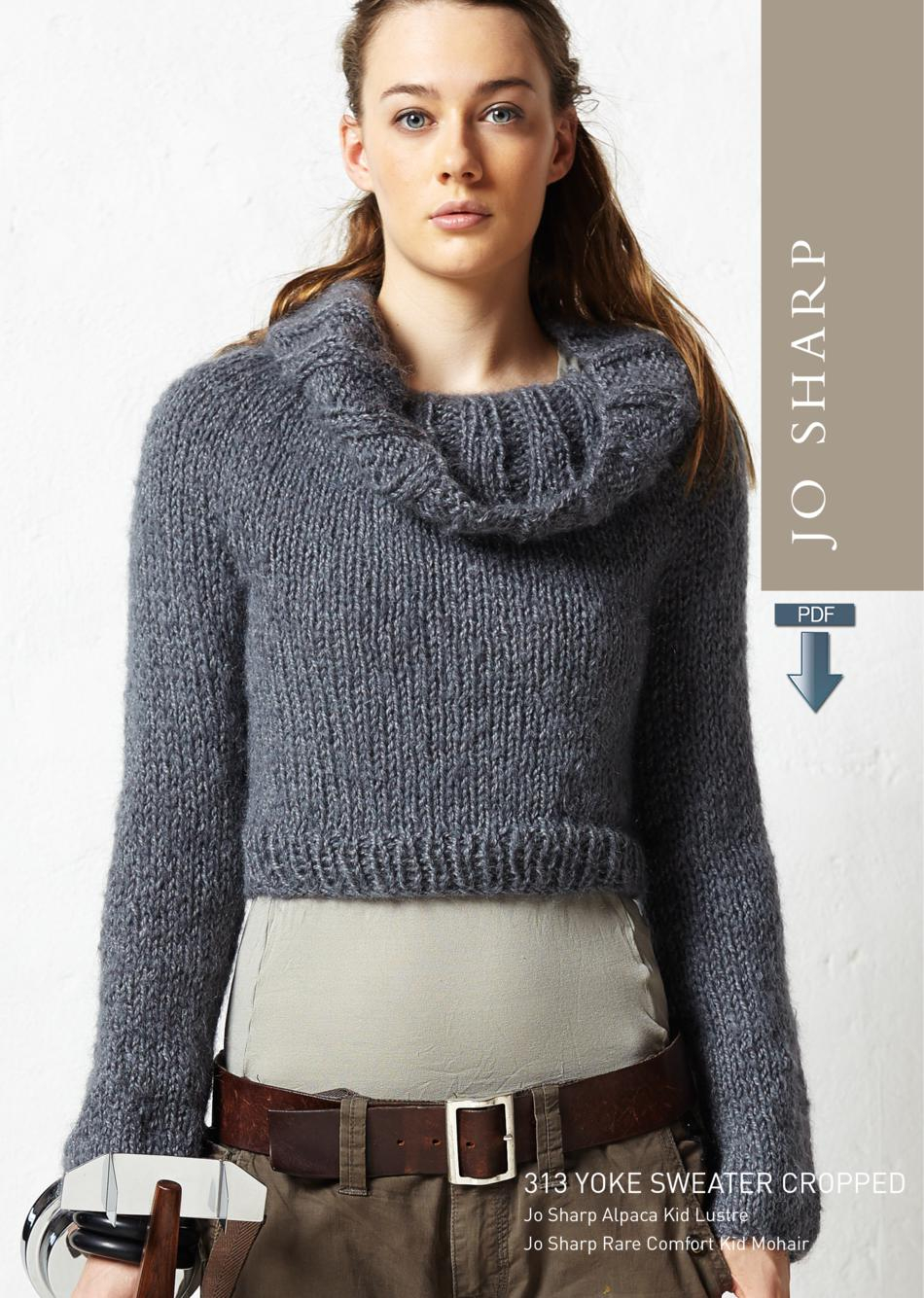 Yoke Knitting Pattern Jo Sharp Cropped Yoke Cowl Sweater Pattern Download Knitting Pattern