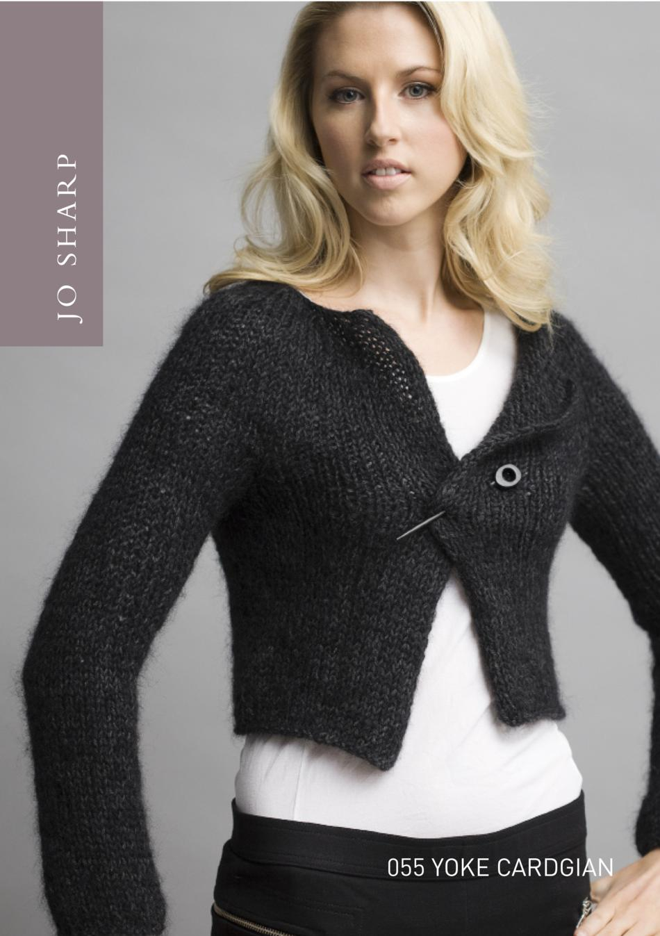 Yoke Knitting Pattern Jo Sharp Yoke Cardigan Pattern Knitting Pattern