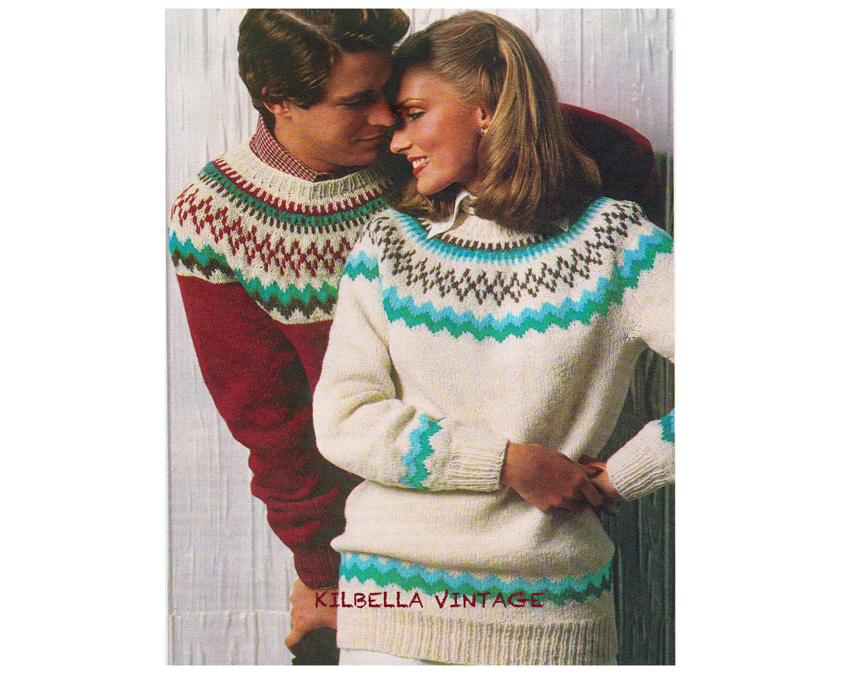 Yoke Knitting Pattern Pdf Knitting Pattern Fair Isle Yoke Knitting Nordic Sweater Mens Womens Pdf Knitting Pattern