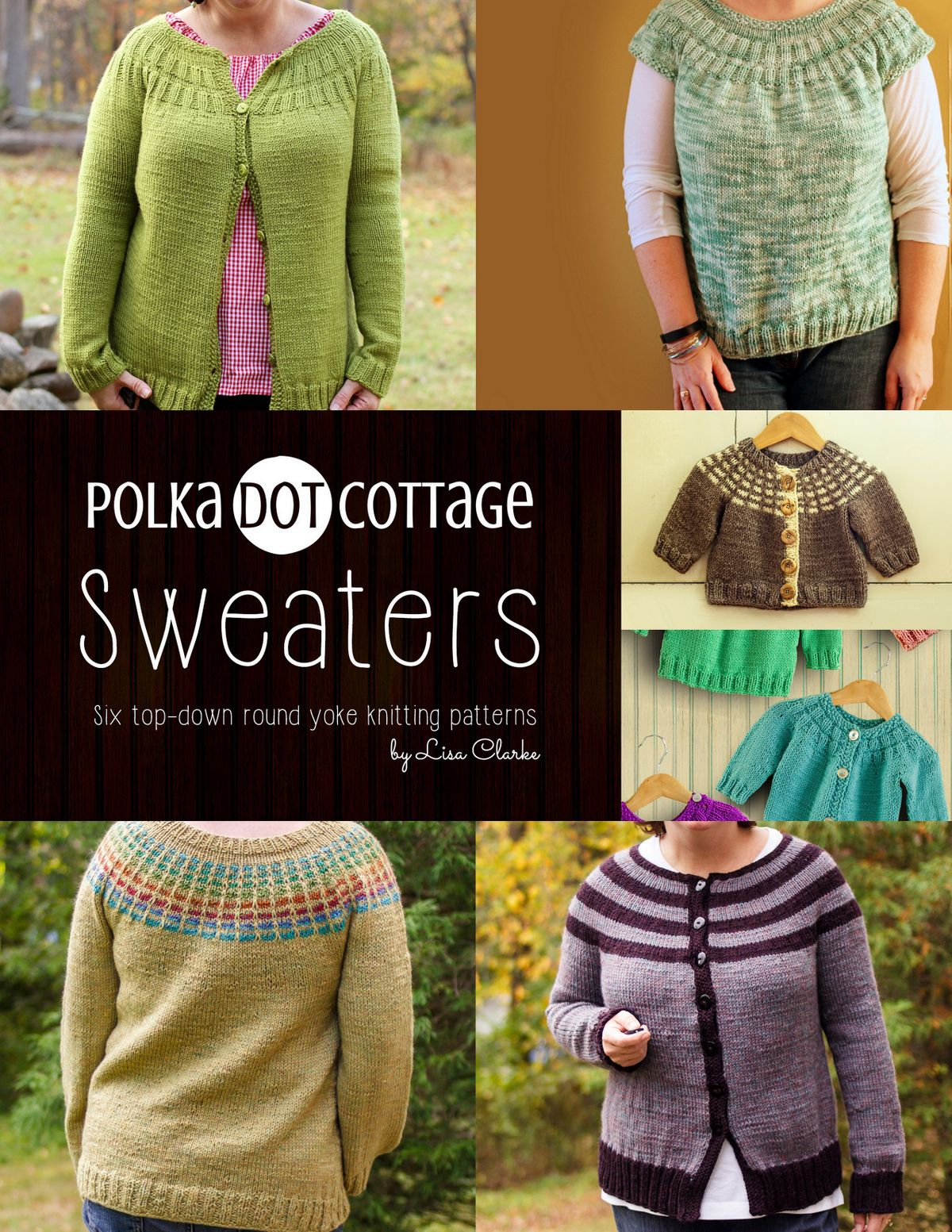 Yoke Knitting Pattern Polka Dot Cottage Sweaters Ebook Lisa Clarke Rakuten Kobo