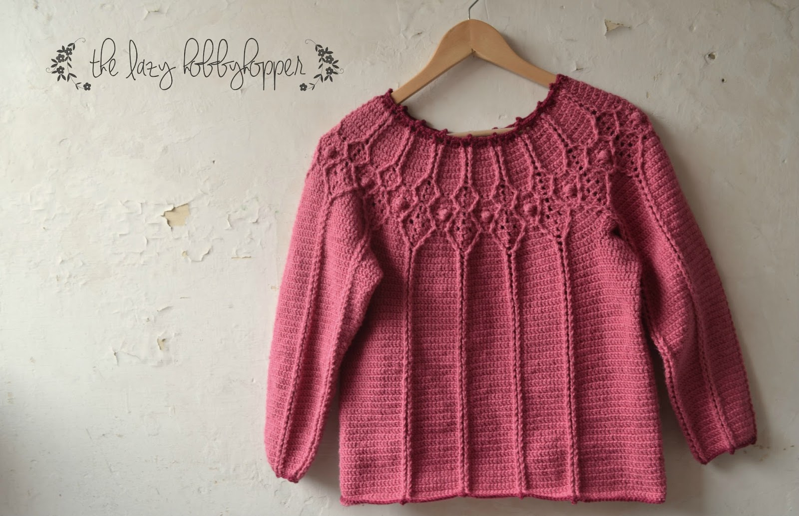 Yoke Knitting Pattern The Lazy Hobhopper Round Yoke Pullover New Pattern